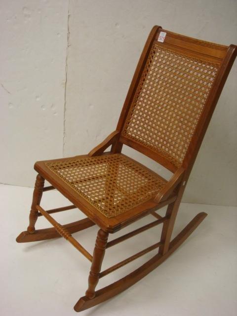 Vtg BENTWOOD ROCKER cane back rocking chair wicker wood porch mid . - Cane Back Rocking Chair Design ~ Home & Interior Design