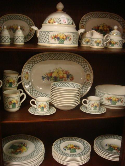 5 villeroy boch basket dinnerware 56 pieces lot 5. Black Bedroom Furniture Sets. Home Design Ideas