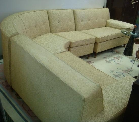 5 four piece wrap around sectional sofa lot 5 for Separate sectional sofa pieces