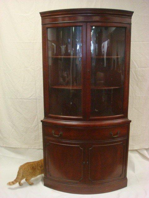 36 morganton mahogany curved front corner cabinet lot 36 for 36 corner cabinet