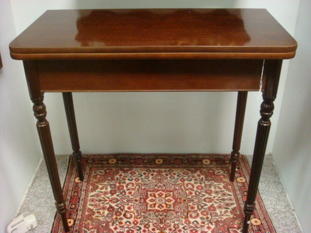 90 Mahogany BOMBAY COMPANY Folding Game Table Lot 90 : 107492511l from www.liveauctioneers.com size 640 x 480 jpeg 75kB