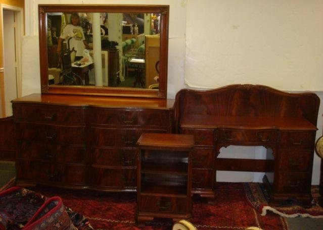 369 white furniture co 5 piece mahogany bedroom set lot 369