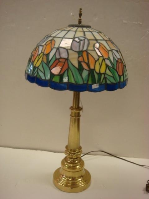 220 vintage northbrook by stiffel brass lamp slag sha. Black Bedroom Furniture Sets. Home Design Ideas