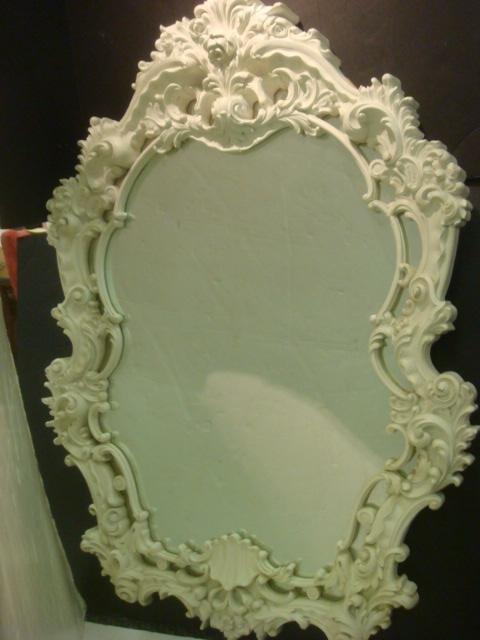 163 fancy white turner wall accessory mirror lot 163 for Fancy white mirror