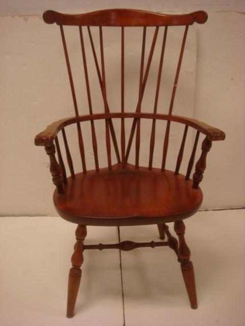 Nichols Stone Comb And Brace Back Windsor Chair Lot 309