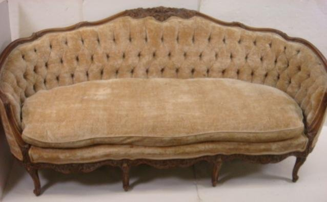 Victorian Button Tufted Sofa And Loveseat Lot 233