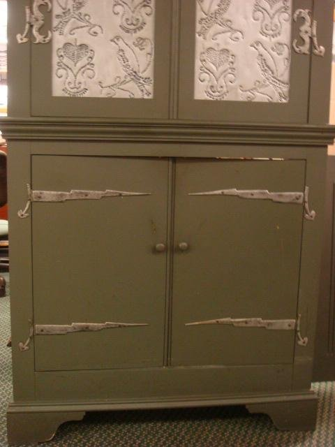 Reproduction pressed tin pie safe kitchen cabinet lot 56 for Reproduction kitchen cabinets