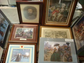 framed and unframed colonial prints lot 345