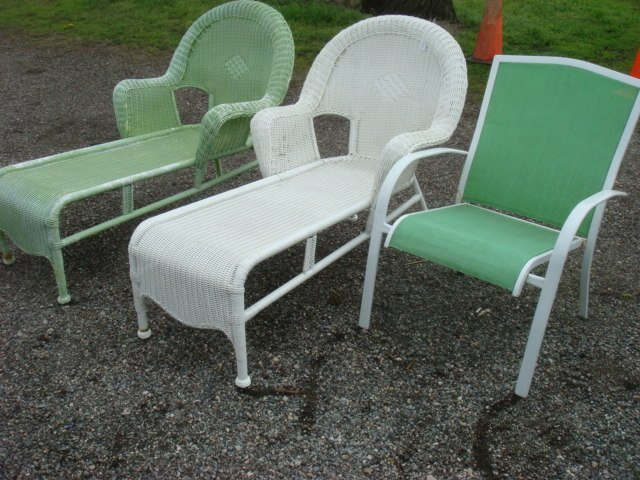 Two HAMPTON BAY Lounge Chairs and an Arm Chair Lot 5
