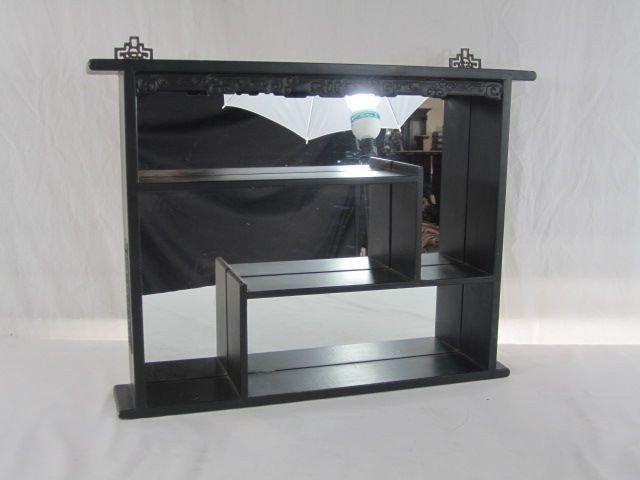 458 A1 8 Mirrored Shadow Box Wall Shelf Lot 458