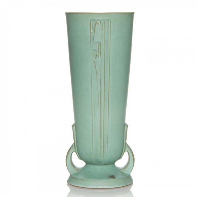 roseville moderne vase shape 803 14 14 5 8 lot 327. Black Bedroom Furniture Sets. Home Design Ideas