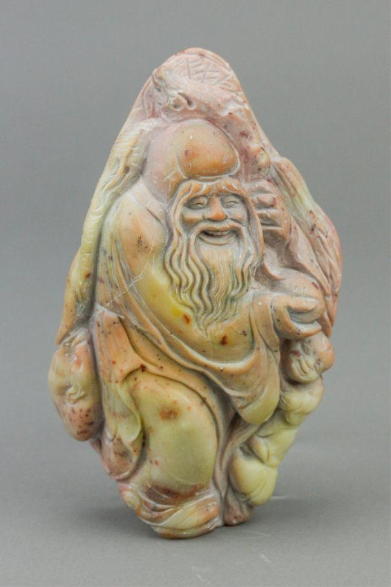 Chinese fulong shoushan stone carved shou xin lot