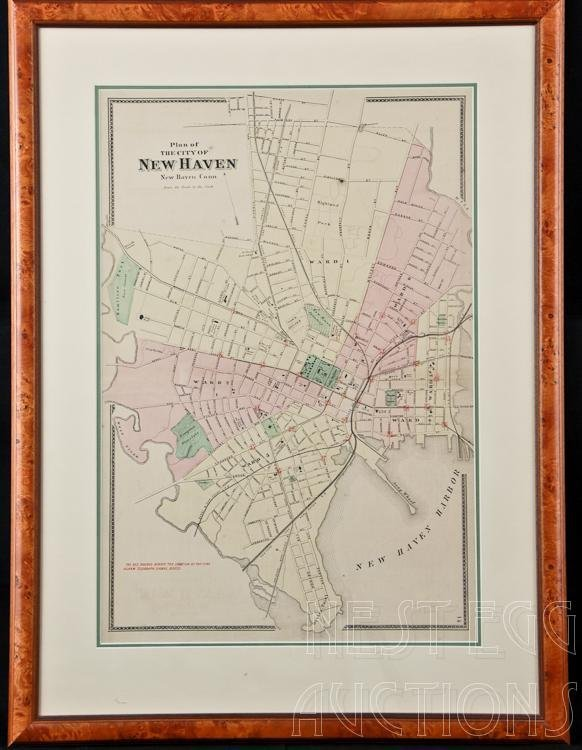 f w beers atlas of new haven county connecticut map lot 357. Black Bedroom Furniture Sets. Home Design Ideas