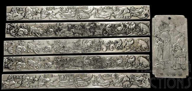 Chinese Silver Bars Or Ingots 27 Ozt Lot 161