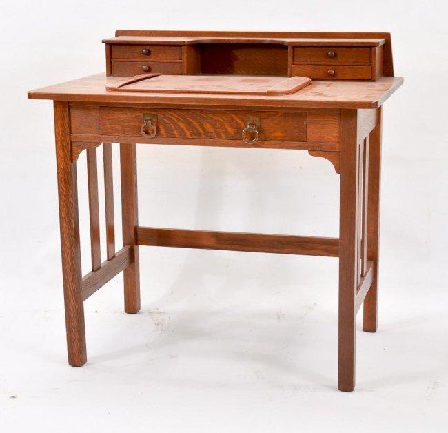 Mission Writing Desk ~ Stickley mission oak writing desk lot