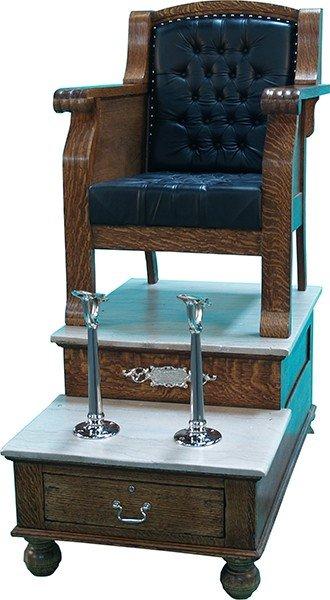 962: Restored Koken Single Chair Shoe-Shine Stand
