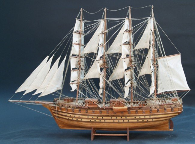 "641: Wooden Sailing Frigate Model Ship ""JYLANO"" : Lot 641"