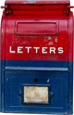 1039 Vintage Cast Iron U S Mail Street Letter Box Lot 1039
