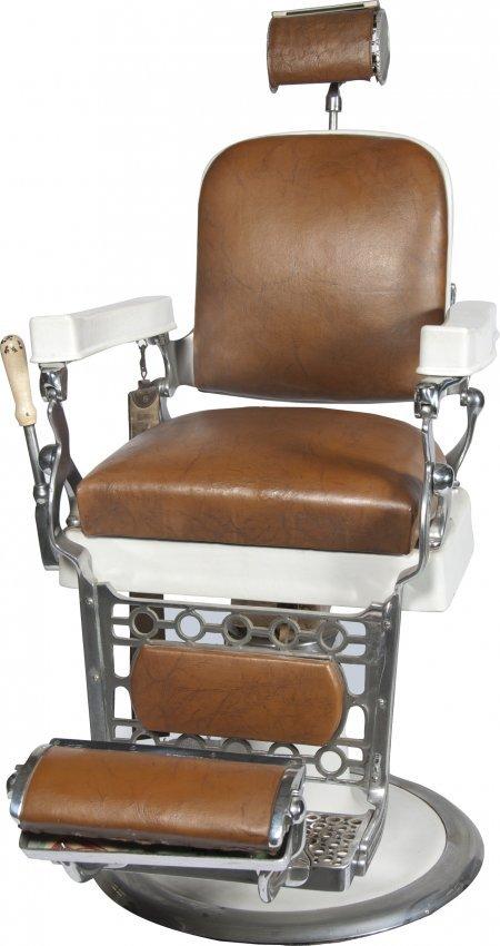 406 Berninghaus Hercules Barber Chair Lot 406