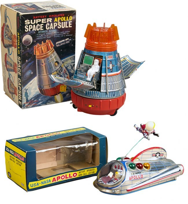 Japanese Capsule Toys : Lot of vintage made in japan space capsule toys