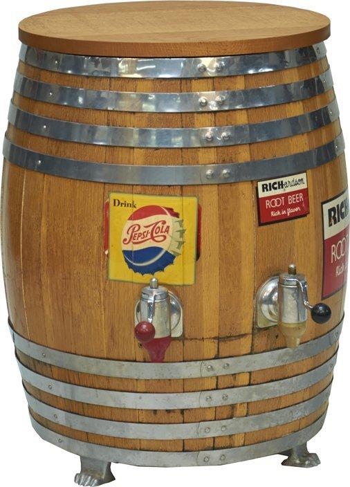Root Beer Barrel Drink Dispenser