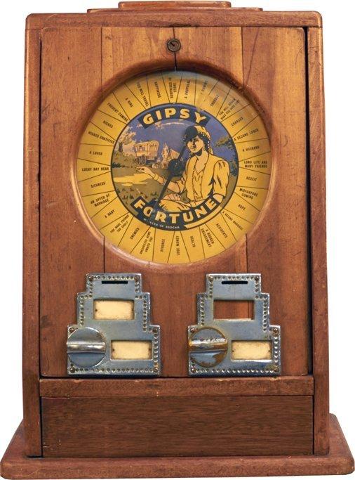 Countertop Arcade : Coin-Op Gipsy Fortune Teller Countertop Arcade Machine : Lot 1091