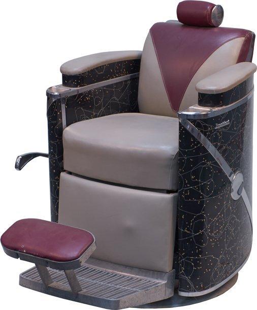 Koken president art deco barber chair lot 1359a - Deco klassiek koken ...