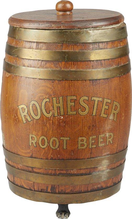 Rochester Root Beer Countertop Barrel Syrup Dispenser : Lot 1415