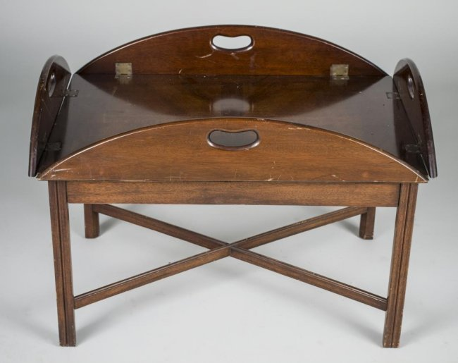 Mahogany Butler 39 S Tray Coffee Table Lot 550