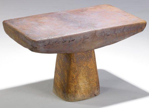 779 andre borderie glazed ceramic coffee table lot 779 - Ceramic pedestal table base ...