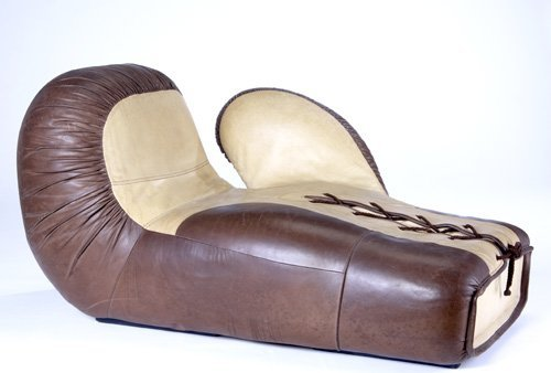 409 De Sede Boxing Glove Lounge Chair In Two Tone Leat