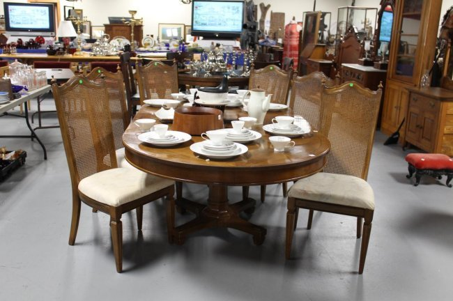 370 1970 39 s mediterranian dining room table with 6 chai for 1970 dining room set