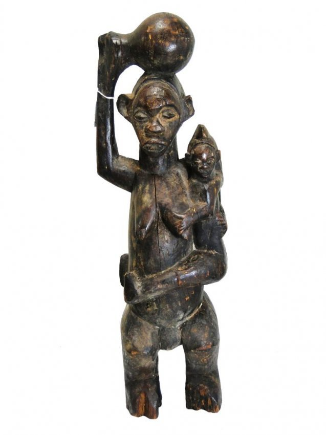 140: Fertility statue, Kwele tribe, from Congo, obtaine ...