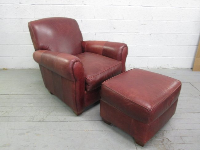 131 leather chair ottoman by bauhaus lot 131. Black Bedroom Furniture Sets. Home Design Ideas
