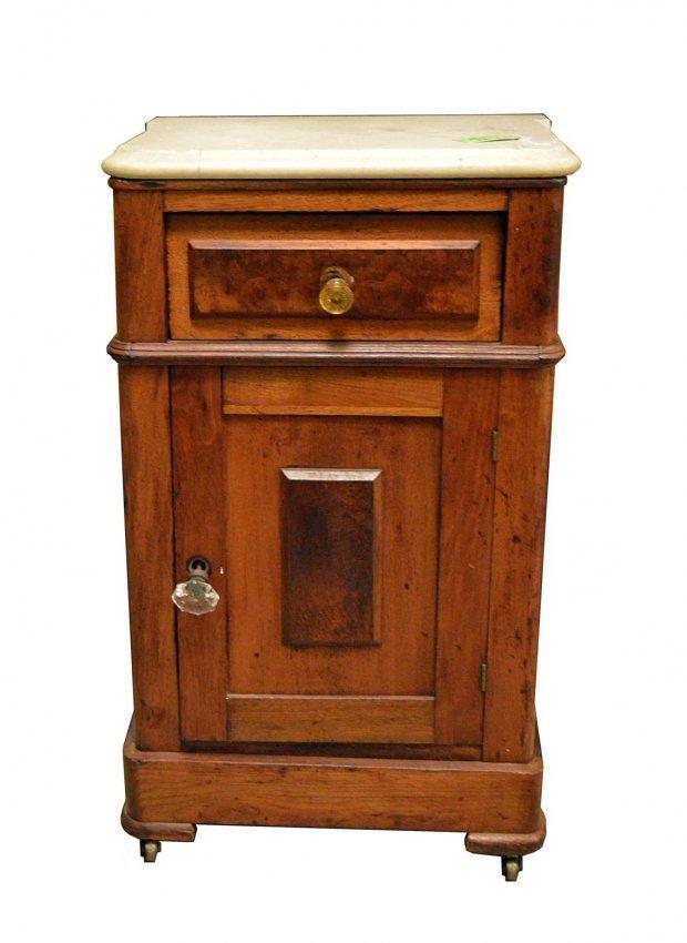 633 Marble Top Victorian Nightstand Lot 633