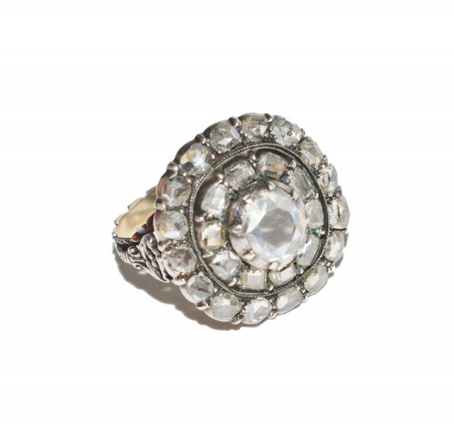 antique 1 ct georgian engagement ring lot 509a