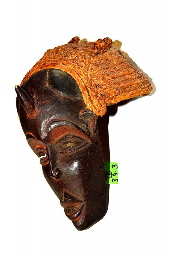 African carved wood mask and fertility figure lot