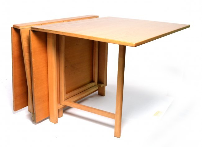 Modern Oak Fold Down Dining Table Lot 296