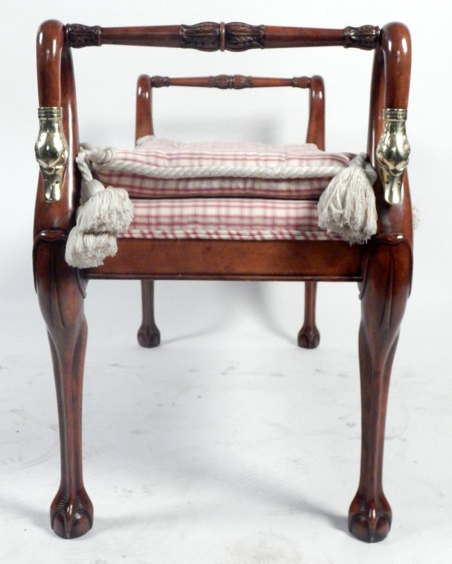 Good Bench Form: Decorated Swan-Form Window Bench : Lot 189