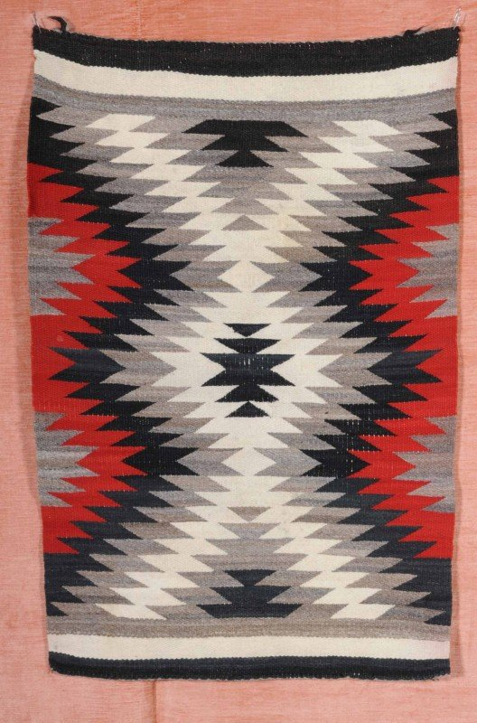 35 Old American Indian Blanket Black White Grey Amp R