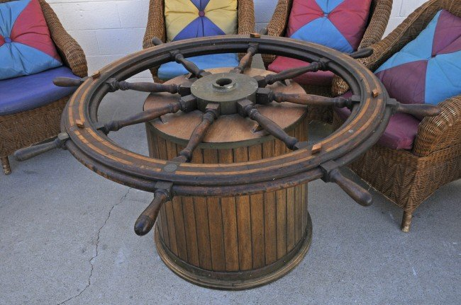 Dining Table Ships Wheel Dining Table