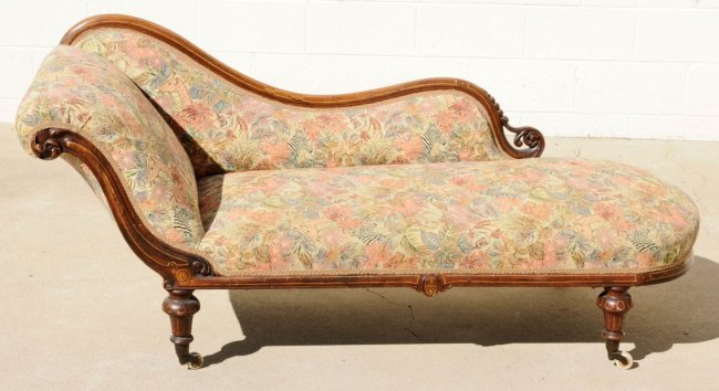 Antique chaise lounge chair outdoor sun for sale price usd for Antique chaise lounge prices