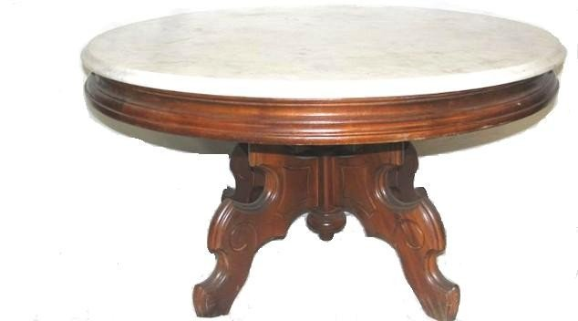 252 Victorian Marble Top Coffee Table Lot 252