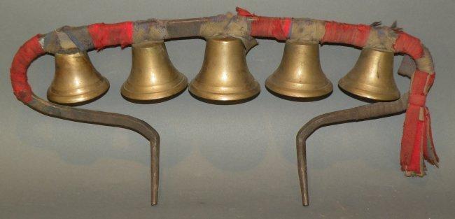 Iron Amp Brass Conestoga Wagon Collar Bell Set Lot 125
