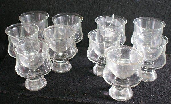 146 set of 10 shrimp cocktail glasses and liners h 5. Black Bedroom Furniture Sets. Home Design Ideas