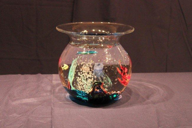 332 oggetti art glass large fish bowl lot 332 for Large glass fish bowl