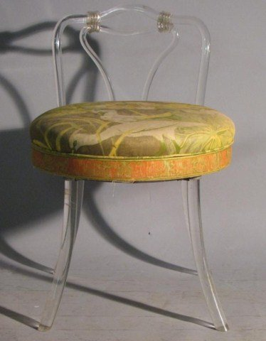 541 acrylic swivel vanity stool chair reflectone lot 541 - Acrylic vanity chair ...