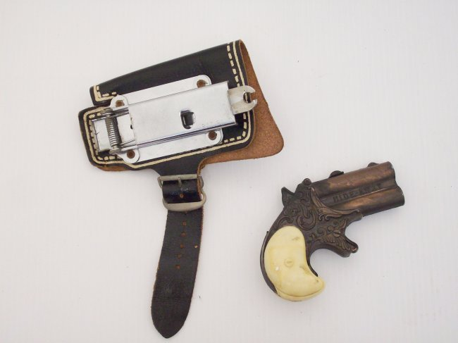 Hide Away Toy Derringer And Spring Action Holster Lot 78