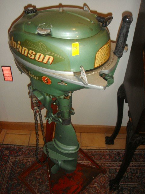 29 Vintage Johnson Boat Motor Lot 29