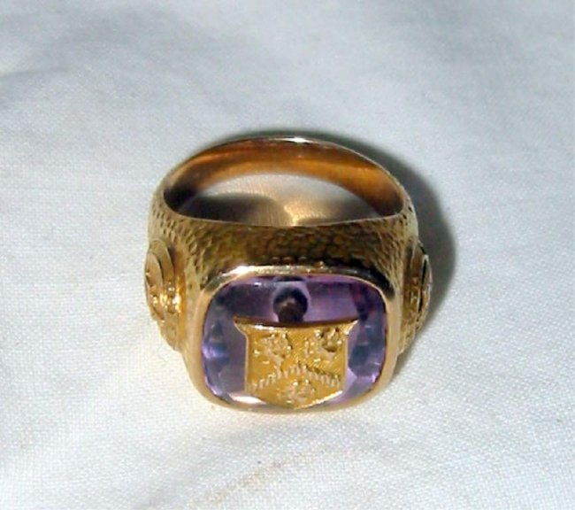 10k gold class ring lot 27